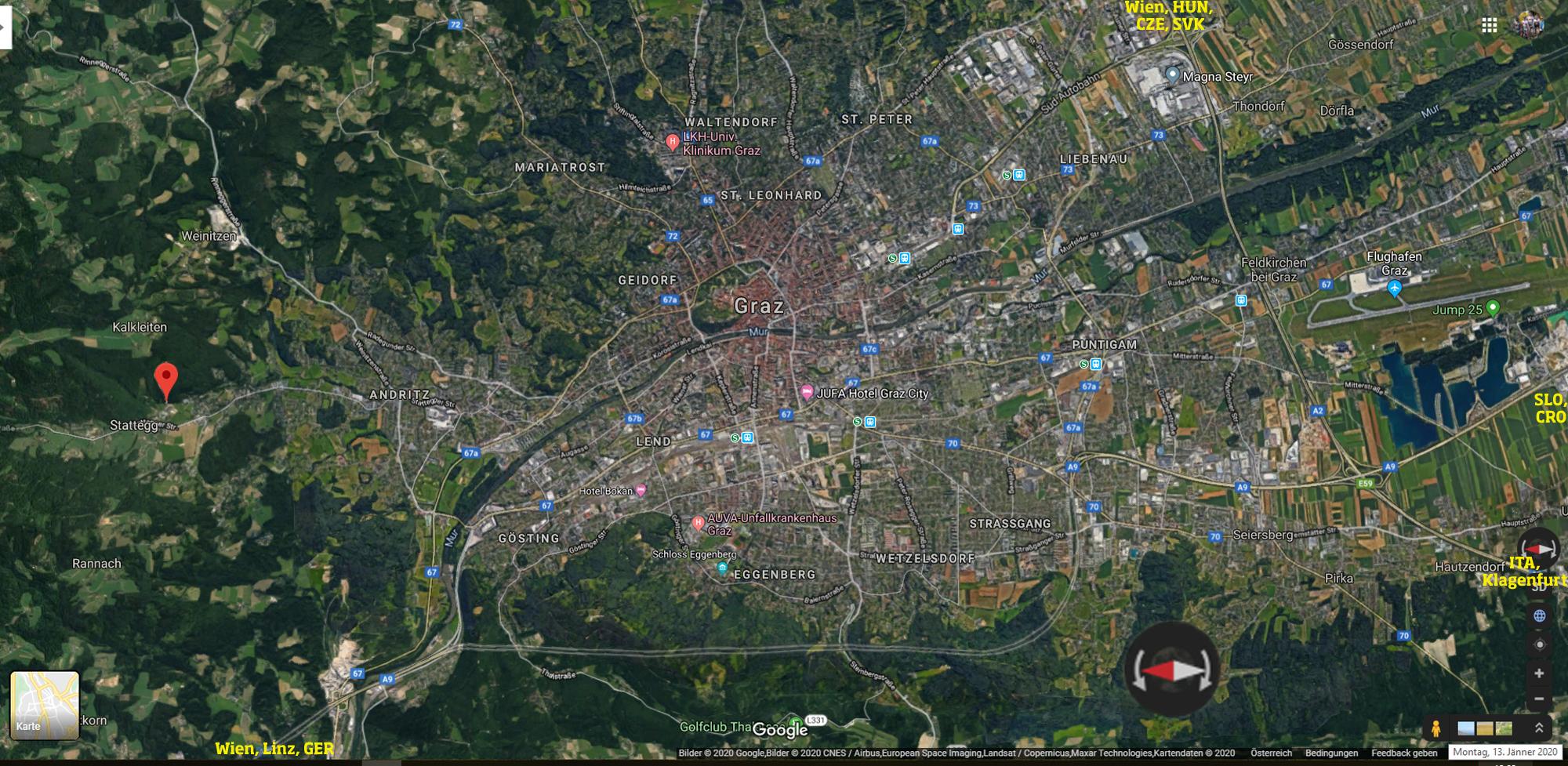 https://www.google.at/maps/place/Hofweg+4,+8046+Hub/@47.0160295,15.4515901,29693a,35y,90h/data=!3m1!1e3!4m5!3m4!1s0x476e36f0893cedeb:0x1a0fa755afe15faa!8m2!3d47.1429918!4d15.4209978